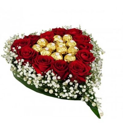 chocolates in red roses