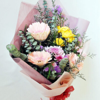 welcoming garden flowers bouquet