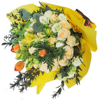 Wrapped in Yellow Bouquet