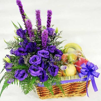 floral fruits basket lavender