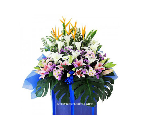 funeral-flowers-everlasting-memories, Crème Lilies, Cabbage, Anthem
