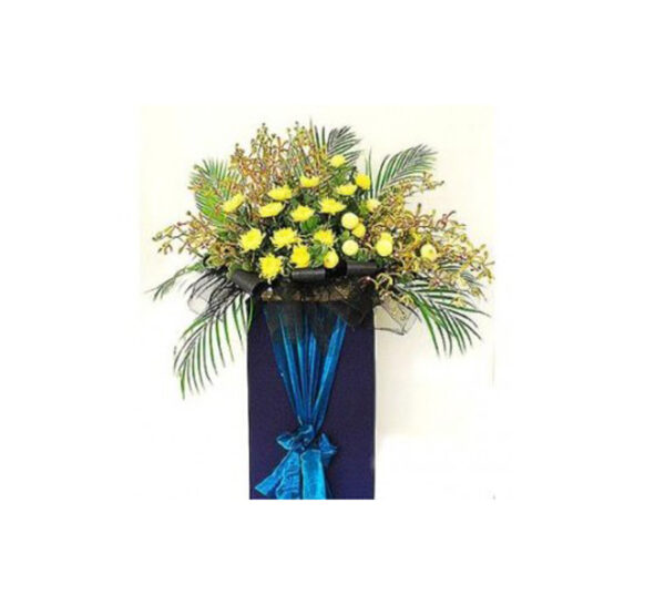 funeral-flowers-words-of-comforT,Blue Box Stand