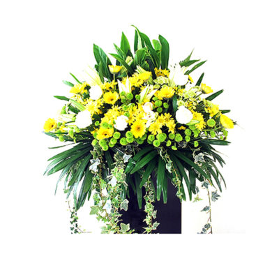 funeral-flowers-yellow