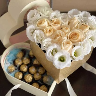 Chocolates And Champagne roses