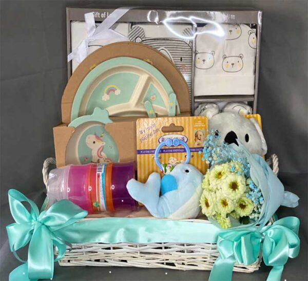 Shears baby gift set hamper