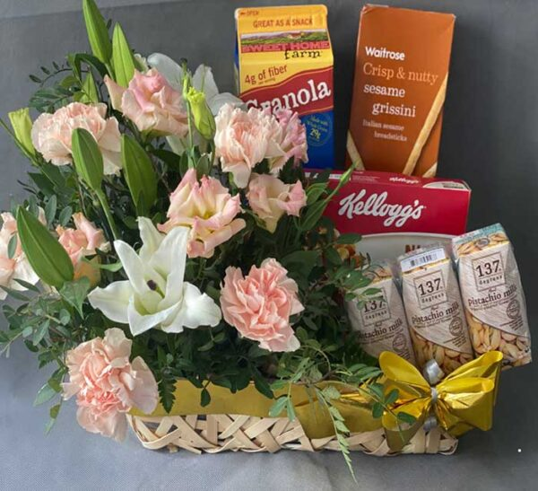 Healthy Food Hamper & Flowers