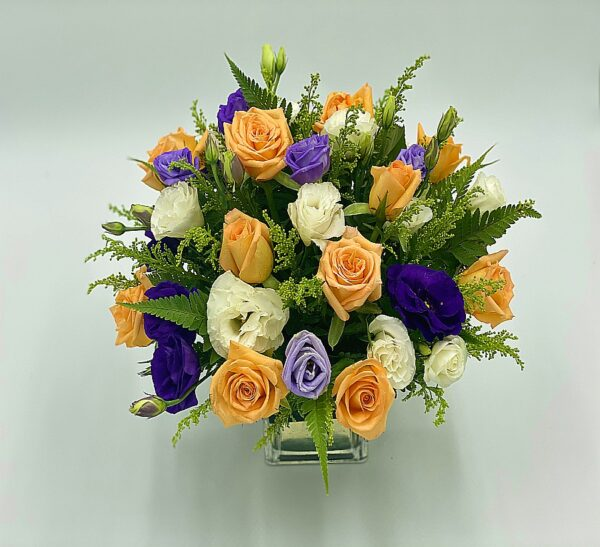 multi faceted flower arrangement